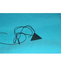 Кулон Треугольник  шунгит (вершина обращена вверх)