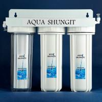 Тройная питьевая система под стол. Кран под чистую воду. Шунгит+цеолит+полипропилен.